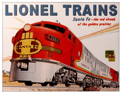 The Santa Fe WarBonnett Passenger train - Lionel's FlagShip!