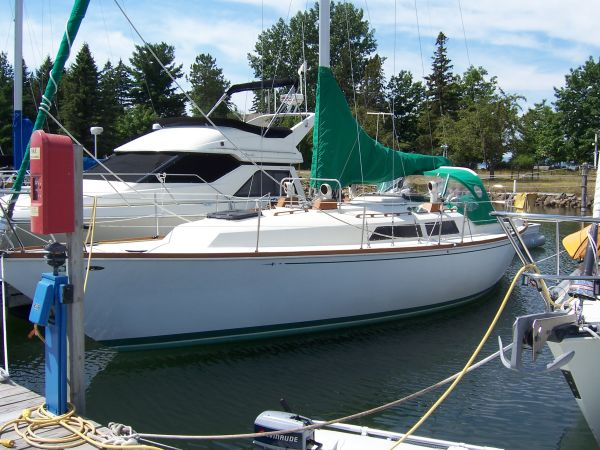 Anegada 38 foot sloop at safe harbor in Bayfield, WI   Lake Superior