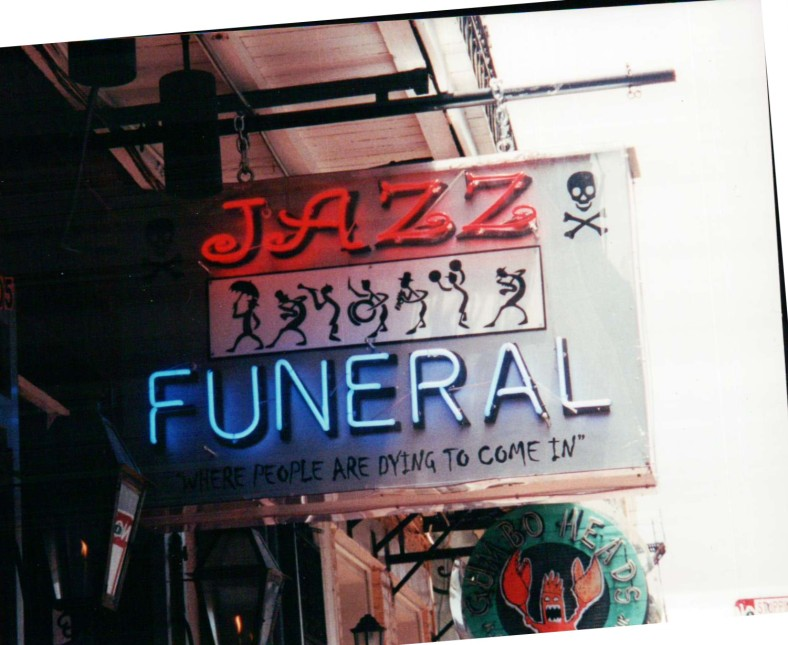 Even the Funerals can include Jazz