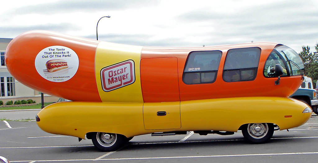 Really Can Return Anything L L Bean Even Dead Dogs Collar together with The Future Of Ford Trucks Looked Very Different In 1994 1671333301 in addition Watch additionally So you wish you had an oscar mayer wienermobile pedal car as well Kit Cat Clock. on oscar wienermobile